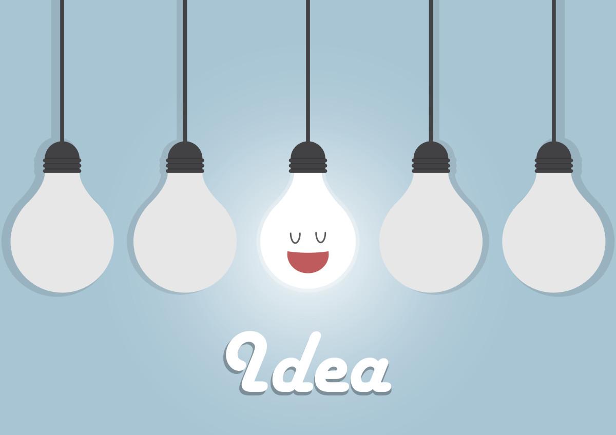 visuel ampoules, idée