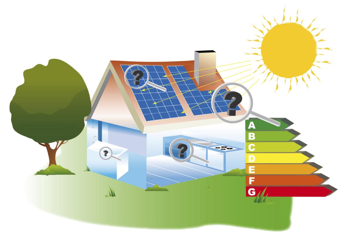 visuel maison panneaux photovoltaïques, énergies renouvelables, émission co2