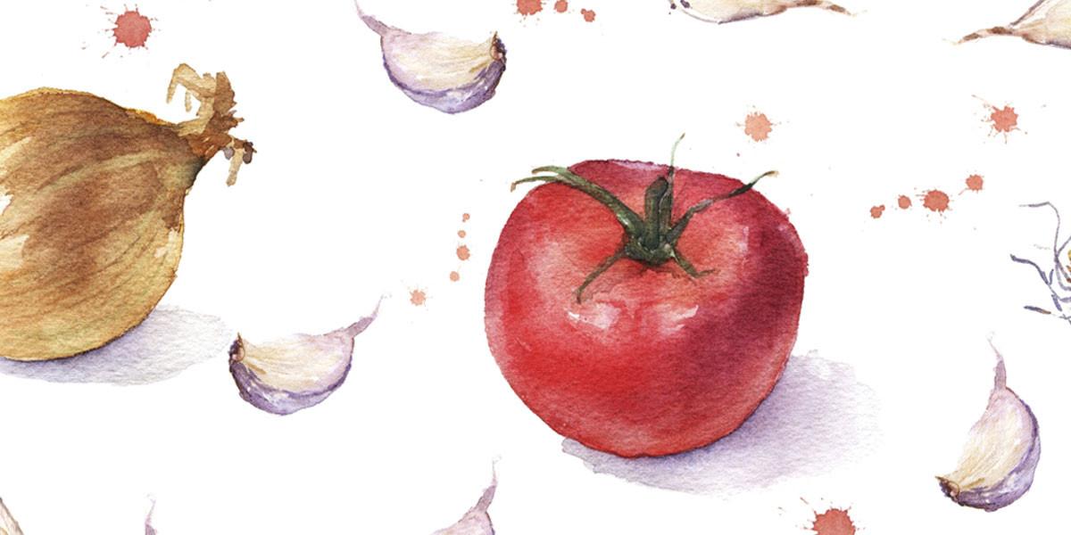 visuel tomate oignons ail