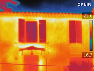 thermographie issue d'une caméra thermique