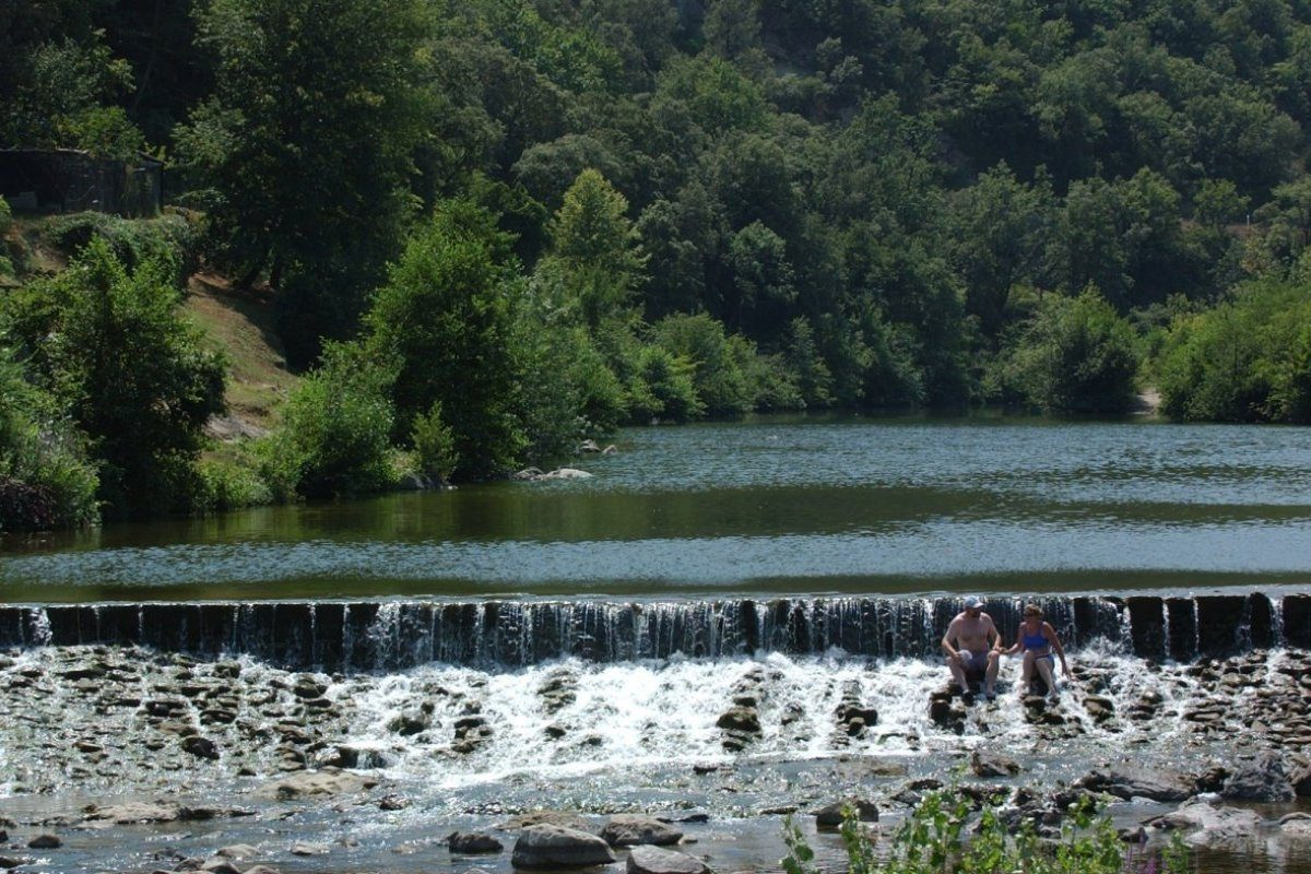 eaux de baignade au nord d'Anduze dans le Gard